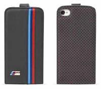 Кожаный чехол на iPhone 5 BMW M (черный) Ц-000023711