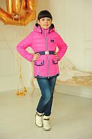 Яркая розовая куртка   Детская куртка Змейки