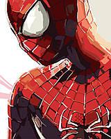 Картина раскраска по номерам без коробки Человек-Паук (BK-GX8734) 40 х 50 см