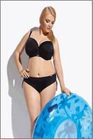 Польский купальник женский раздельный черный Kris Line Beach (купальники большого размера, плотная чашка)