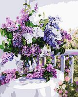 Картина по номерам Идейка Сирень в стеклянной вазе (KHO1074) 40 х 50 см