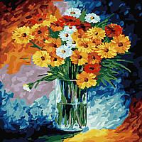 Картина раскраска по номерам без коробки Идейка Ромашки (KHO2021) 40 х 40 см