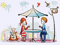 Картина раскраска по номерам без коробки Идейка Первое свидание (KHO2626) 30 х 40 см