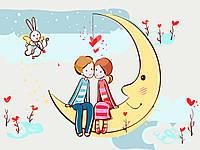 Картина раскраска по номерам без коробки Идейка Стрела любви (KHO2630) 30 х 40 см