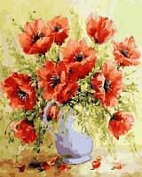 Картина для рисования Турбо Кувшин с маками (VP580) 40 х 50 см