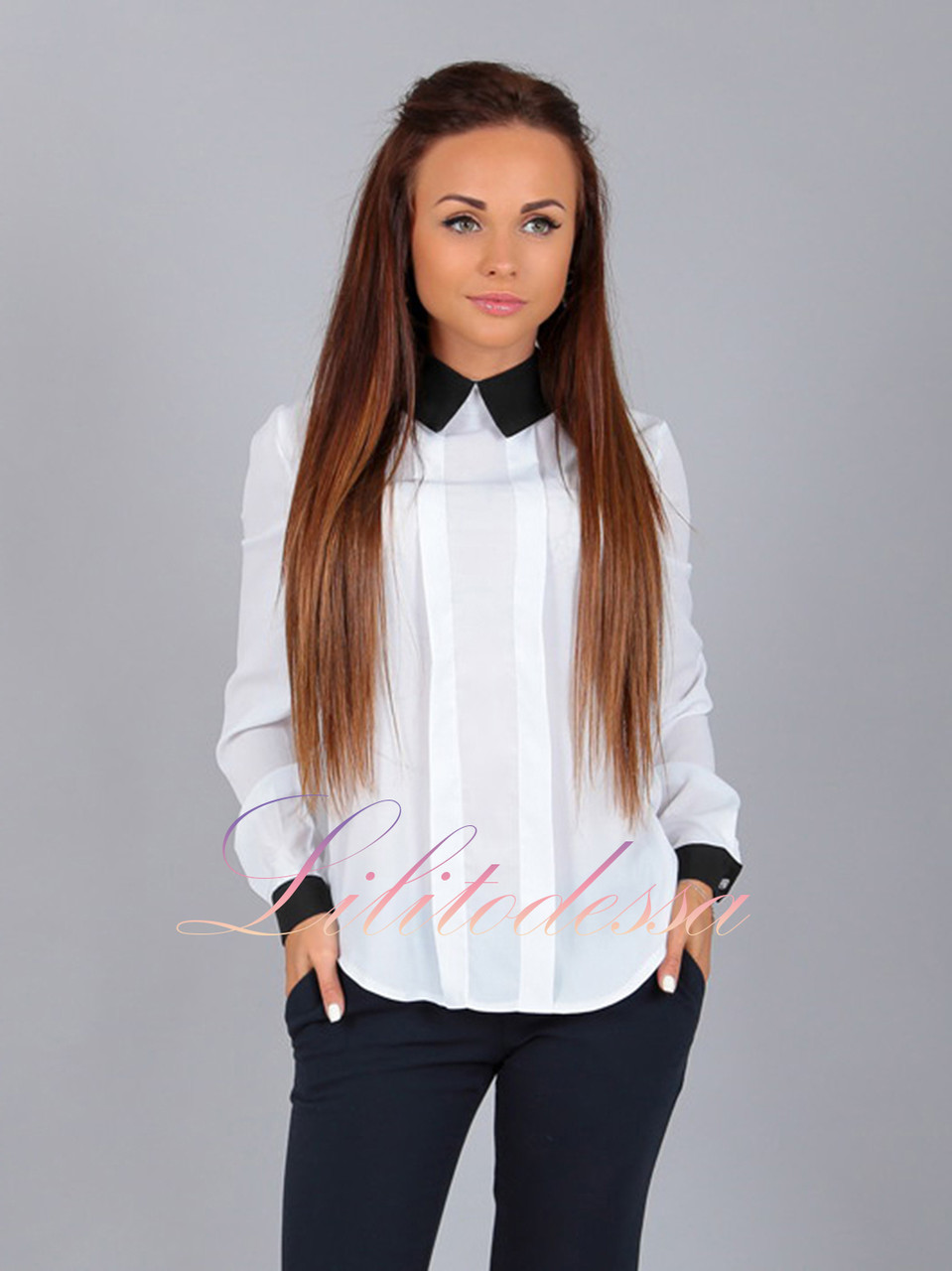 Блузка Серая
