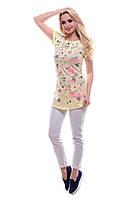 Модная женская футболка. Желтая