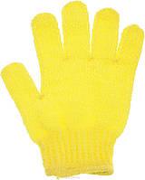 Массажная рукавичка отшелушивающая- желтая