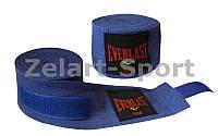 Бинты боксерские (2шт) Эластан + Х-б ELAST BO-3729-5 (l-5м,синий красный черный)