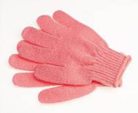 Массажная рукавичка отшелушивающая - розовая