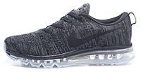 Мужские кроссовки Nike Air Max Flyknit (найк аир макс флайнит) серые