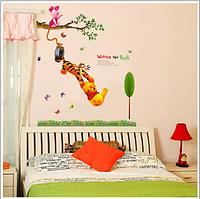 Наклейки  для детской комнаты Медвежонок Винни и Тигр (лист 60*90см)