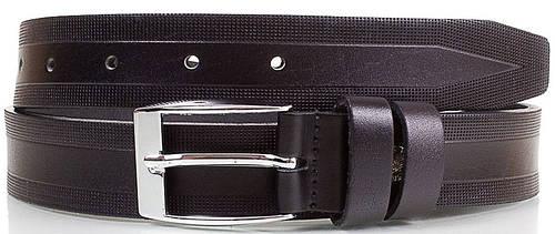 Стильный мужской кожаный ремень 3 см. Y.S.K. (УАЙ ЭС КЕЙ) SHI1941-2, черный