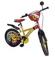 """Детский двухколесный велосипед 1120001 Феррари, колеса 20"""", сиденье и руль регулируются, стальная рама"""