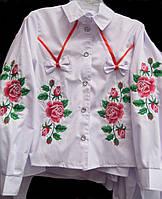 """Вышитая блузочка подросток """"Розочки"""""""