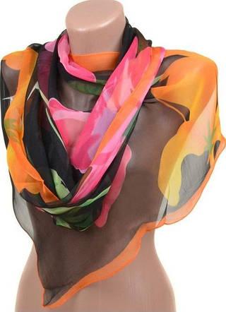 Воздушный женский шарф размером 60*172 см Подиум 10122-D4 (разноцветный)