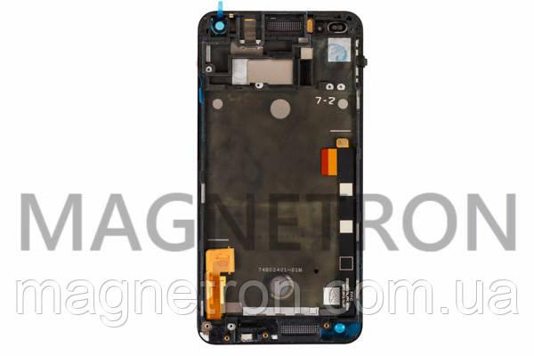 Дисплей с тачскрином и передним корпусом к мобильному телефону HTC 801e One M7, фото 2