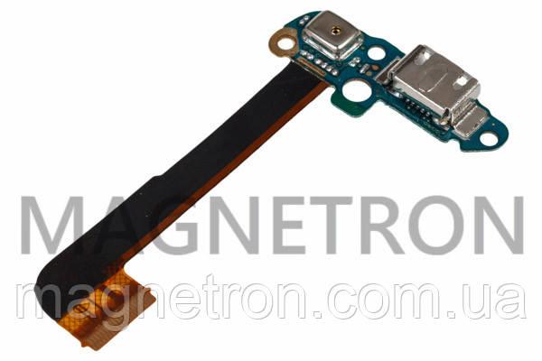 Шлейф с разъемами зарядки, микрофона и элементами для телефонов HTC One M7 801e, фото 2