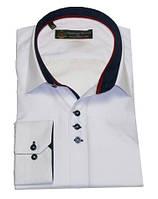 Рубашка мужская однотонная, приталенный крой