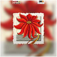 """Схема для вышивки бисером на подрамнике (холст) """"Красная хризантема"""""""