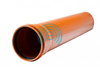 Труба наружная канализационная 110х 2000 мм (2,2) оранж. (5шт) - Evci Plastik