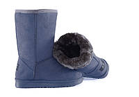 Модные женские угги синего цвета, фото 1