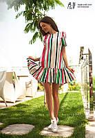 Женское яркое платье MINI в цветную полоску TM B&H