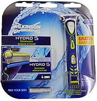 Станок для бритья Wilkinson Sword 4в1 Hydro 5 Groomer (+5 картриджей)