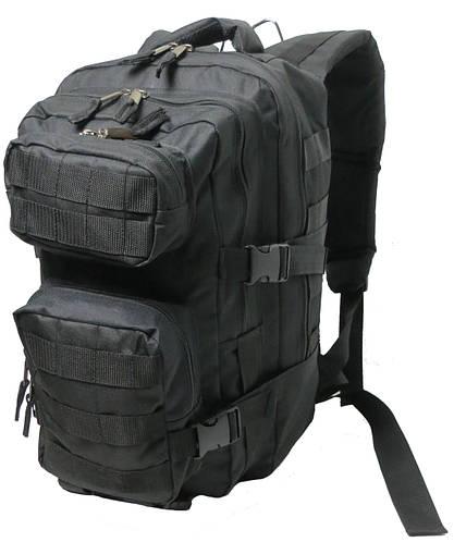 Тактический штурмовой многофункциональный рюкзак 36 л. чёрный, пр-во Украина.