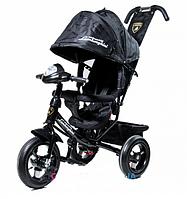 Велосипед детский трехколесный Lamborghini L2 Air ФАРА обновленный, черный