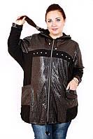 Ветровка большого размера Рене, ветровка батал, ветровка с капюшоном, ветровка женская, дропшиппинг поставщик