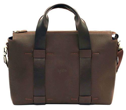 Деловая кожаная сумка 28х38х10 для мужчин VATTO Mk23Fl7Kaz400 коричневый