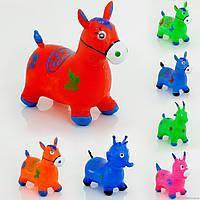 Лошадка прыгун резиновый (корова, дракон, слон, коза) 466-528, рожки-ручки, 1,35кг