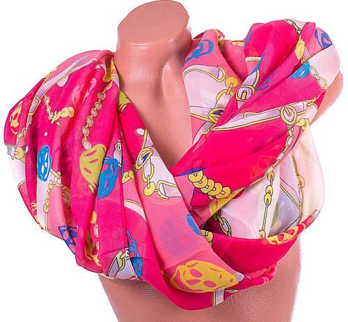 Оригинальный женский шарф из полиэстера 152 на 106 см ASHMA (АШМА) DS901-21-6 розовый