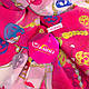 Оригинальный женский шарф из полиэстера 152 на 106 см ASHMA (АШМА) DS901-21-6 розовый, фото 3