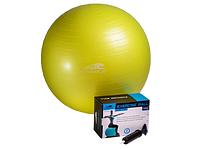 Мяч гимнастический 75см + насос PowerPlay желтый