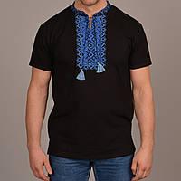 Вышиванка футболка DEN KRAYKA черный с синим