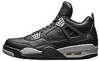 Баскетбольные кроссовки Nike Air Jordan 4 Retro (найк аир джордан ретро) черные