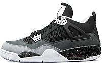 Баскетбольные кроссовки Nike Air Jordan IV Retro (найк аир джордан ретро) серые