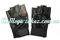 Перчатки для фитнеса (атлетические) Leather: one size, кожа + текстиль