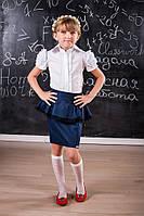 Блуза детская белая с коротким рукавом