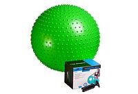 Фитбол массажный с насосом 65см PowerPlay зеленый