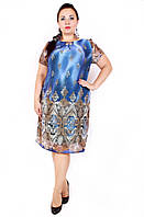 Платье большого размера Лиана Розы купон, легкое платье большого размера, дропшиппинг