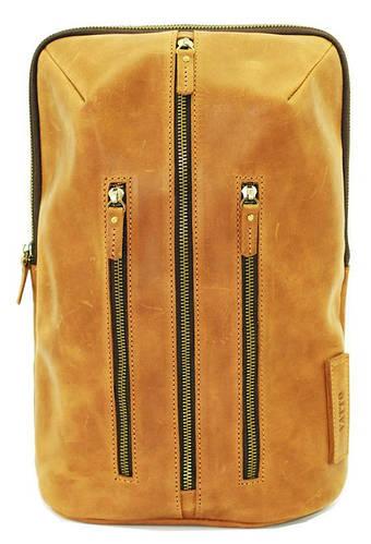 Женский однолямочный рюкзак из натуральной кожи на 7 л. VATTO Wk-27Kr200 рыжий