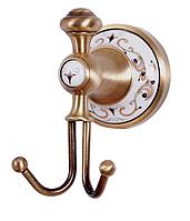 Крючок двойной для полотенец KUGU Medusa 710A antique