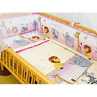 Постель детская в кроватку из 7 эл.(без кармана).Мадагаскар