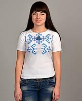 Белая вышитая футболка