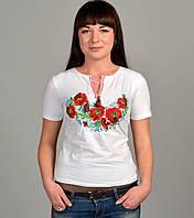 Женская вышиванка с маками