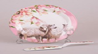 Блюдо для торта 23 см с лопаткой