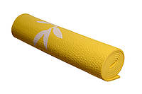 Коврик для йоги и фитнеса 173х61х0,8 см PowerPlay желтый